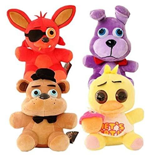 4pcs Five Nights at Freddy'S Plush Dolls Soft Toys 10'For Fans Kids Collection 25cm Bear & Fox & Duck & Rabbit Kids Movie & TV, Stuffed & Plush Toys