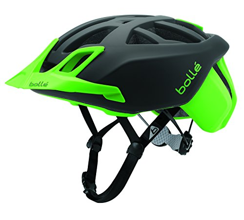 bollé The One MTB, Casco Ciclismo Unisex – Adulto, Nero/Flash Verde, 51-54 cm