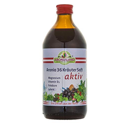 Aronia 36 Kräutersaft aktiv 0,5L Flasche