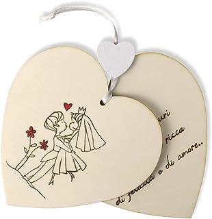 Biglietto auguri matrimonio in legno personalizzato