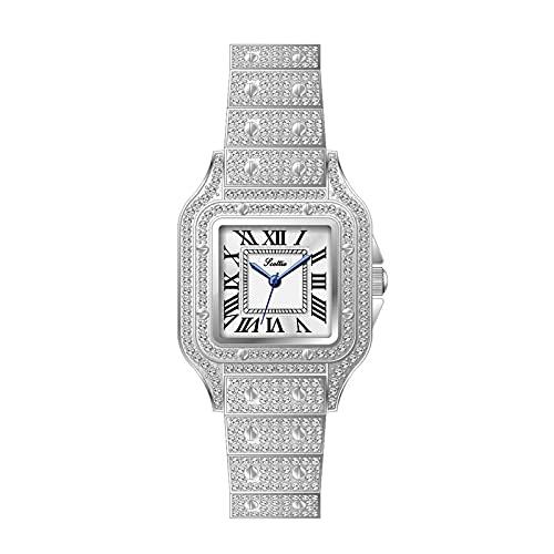 Tent Reloj Cuadrado de Moda Reloj de Mujer Reloj de Diamantes Reloj de Cuarzo Resistente al Agua