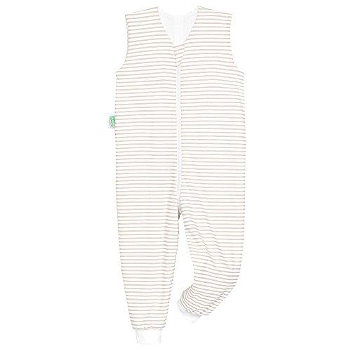 Odenwälder Jersey-Schlafoverall Hopsi stripes soft cooki, Größe:98/104