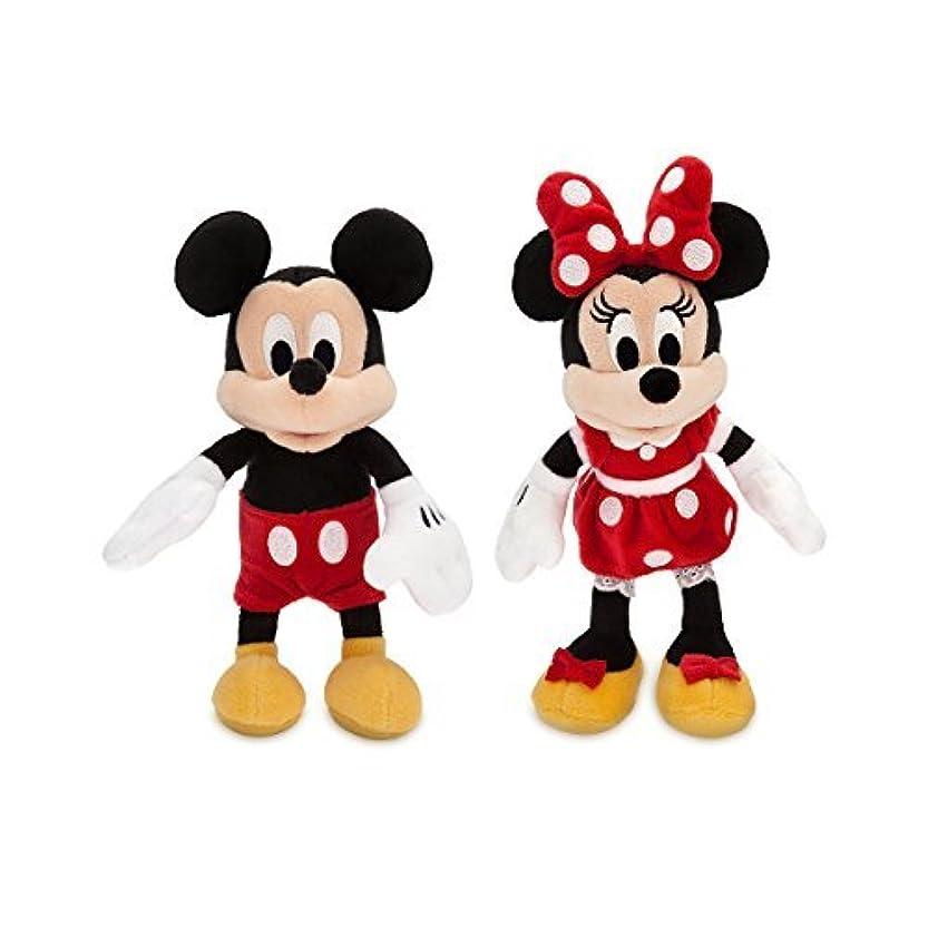 裂け目運命受粉するディズニー (Disney) ミッキー& ミニー ミニサイズ ぬいぐるみ ペアセット 23.5cm レッド 2018 [並行輸入品]