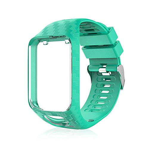 Volwco Bracelet Tomtom Adventurer Montre,Bracelet De Rechange en Silicone pour Tomtom Runner 2 / Runner 3 / Spark 3 / Aventurier/Golfeur 2 Sports GPS Running