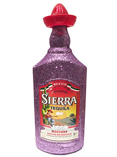 Sierra Tequila Silver 70cl (35% Vol) - Bling Glitzerflasche in Lilac Lila