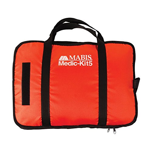 MABIS All-in-One EMT and Paramedic First Aid Kit with 5 Calibrated Blood Pressure Cuffs, Orange