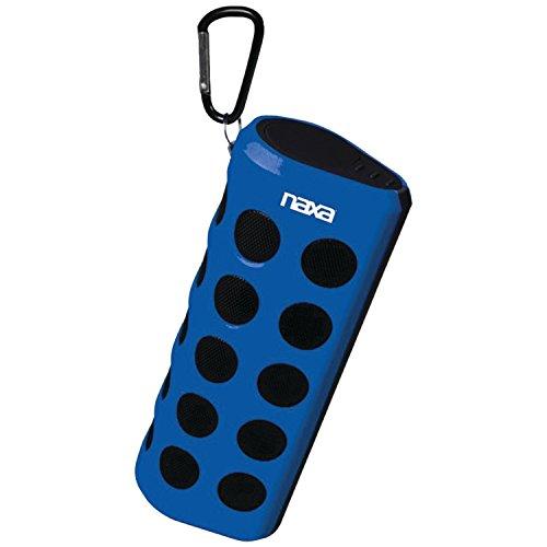 NAXA Electronics NAS-3048 BLUE Wireless Sports Stereo Speaker with Bluetooth (Blue/Black)