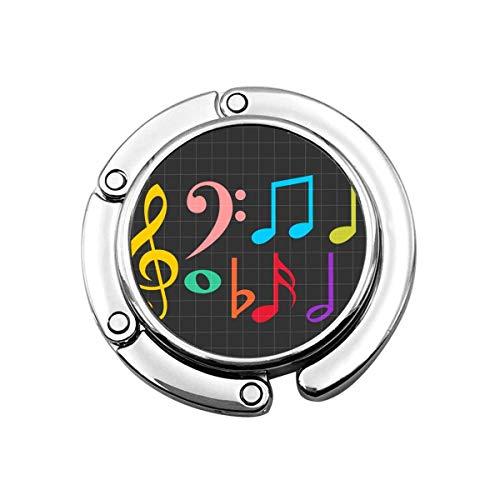 Notas Musicales Coloridas Notas Musicales Tela Gancho para Monedero Plegable Perchas para Bolsos Decoración Gancho para Mesa
