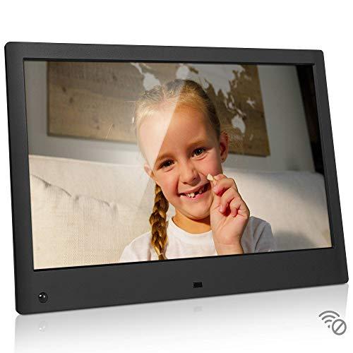 NIX Advance - Cornice digitale da 13 pollici Full HD, l'unica che riproduce un mix di foto e video nella stessa slideshow. Dotata di sensore di movimento