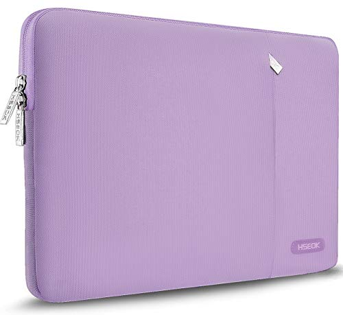 HSEOK Laptop Sleeve 15-15.6 Inch Case, Spill-Resistant Bag for 15.4-Inch MacBook Pro A1286, MacBook Pro Retina A1398 & Most 15.6-Inch Lenovo Dell Toshiba HP Asus Acer Notebook, Purple