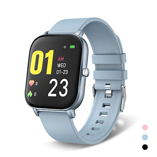 """moreFit Smart Watch, Fitness Tracker with Heart Rate Monitor, 1.4"""" Touch Screen Activity Tracker Sleep Tracker, IP68 Waterproof Pedometer Smartwatch with Sleep Monitor, Step Counter for Men and Women"""