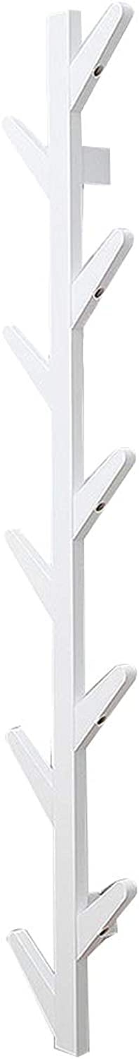 JIANFEI Home Wall Mounted Coat Rack Hanger Tree Type,Bamboo 3 colors 3 Size (color   White, Size   7x25x123cm)