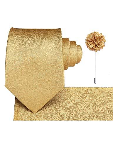 Dubulle Gold Tie Paisley Necktie...