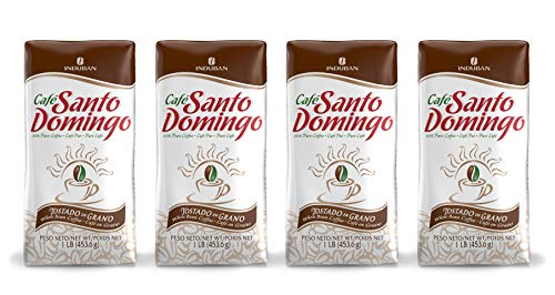 Santo Domingo Coffee, 16 oz Bag - 4 Pack, Whole Bean Coffee - Product from the Dominican Republic