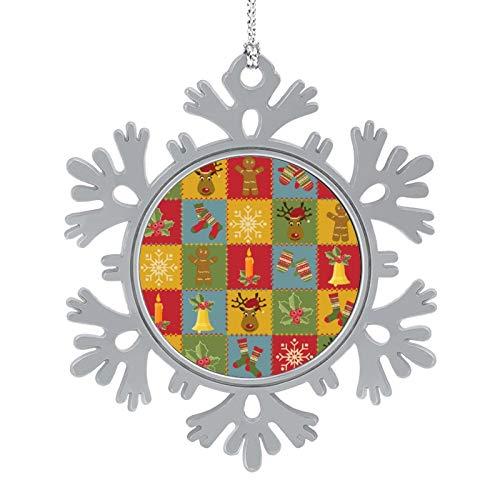 DESPKON Snowflake Pendant Christmas and New Year Fashion Image Snowflake Ornaments for Farmhouse Primitive Country Decor 2 Inch
