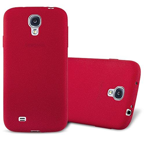 Cadorabo Custodia per Samsung Galaxy S4 in FROST ROSSO - Morbida Cover Protettiva Sottile di Silicone TPU con Bordo Protezione - Ultra Slim Case Antiurto Gel Back Bumper Guscio