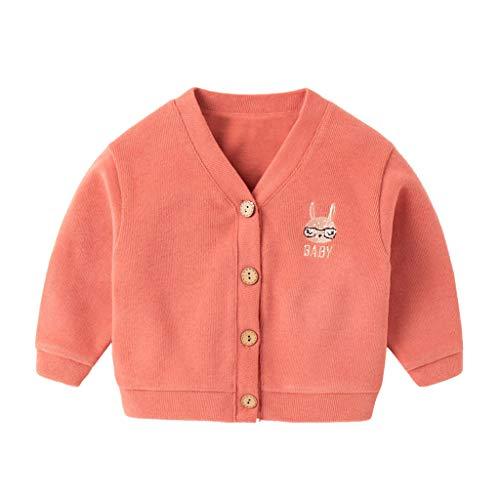 DIASTR Säugling Baby Strickjacke Mantel Gestrickt Winter Herbst Einfarbig Jacke Outwear Kapuzenmantel 6Monate-5Jahre