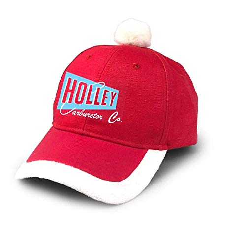 Yuanmeiju Holley Carburetor Co. Logo Speed Equipment Hot Rod Bottoming Keihin Weber Dellorto Carburetor Christmas Hats Red Santa Baseball Cap for Kids Adult Families Celebrate New Year Party