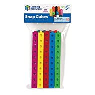 Learning Resources Snap Cubes, Homeschool, Educational Counting Toy, Math Classroom Accessories, Teacher Aids, Set of 100 Snap Cubes, Ages 5+