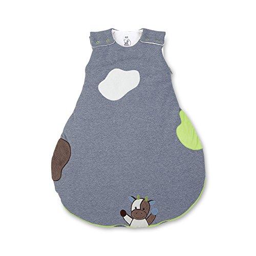 Sterntaler Schlafsack für Babys, Reißverschluss und Knöpfe, Größe: 62/68, Wieslinge, Weiß/Grün/Blau
