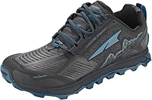 ALTRA Men's ALM1855L Lone Peak 4 Low RSM Waterproof Trail Running Shoe, Black/Blue - 10.5 M US