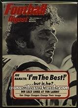 Football Digest November 1972 - Joe Namath (Football Magazine/Publication) Dean's Cards 6 - EX/MT