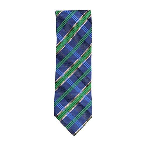 Silk Ties stropdas klassieke zijde blauw groen Schotse ruiten 8,5 cm