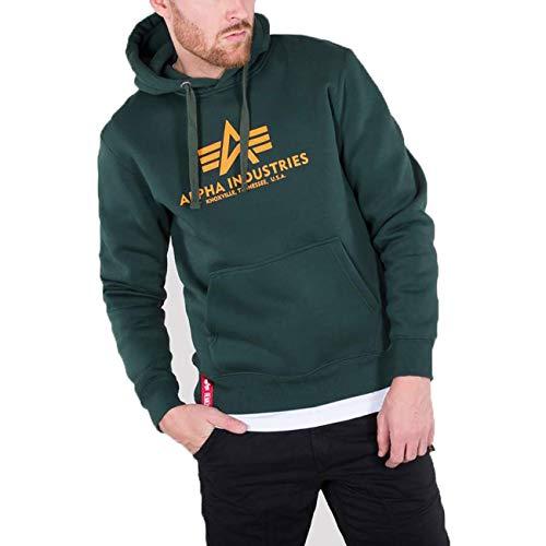 ALPHA INDUSTRIES Herren Basic Hoody Sweatshirt, Negro, 43.73