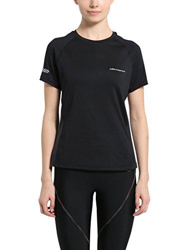 Ultrasport Jen Camiseta de Correr/de Deporte, Mujer, Negro, M