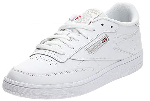 Reebok Club C 85, Sneaker Mujer, Blanco (White/Light Grey 0), 38 EU