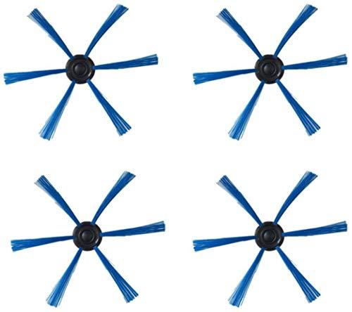 YBINGA 2 piezas de accesorios de filtro para aspiradoras Philips FC8146 FC8134 FC8142 FC8136 piezas de repuesto para aspiradoras (color: 4 cepillos laterales)