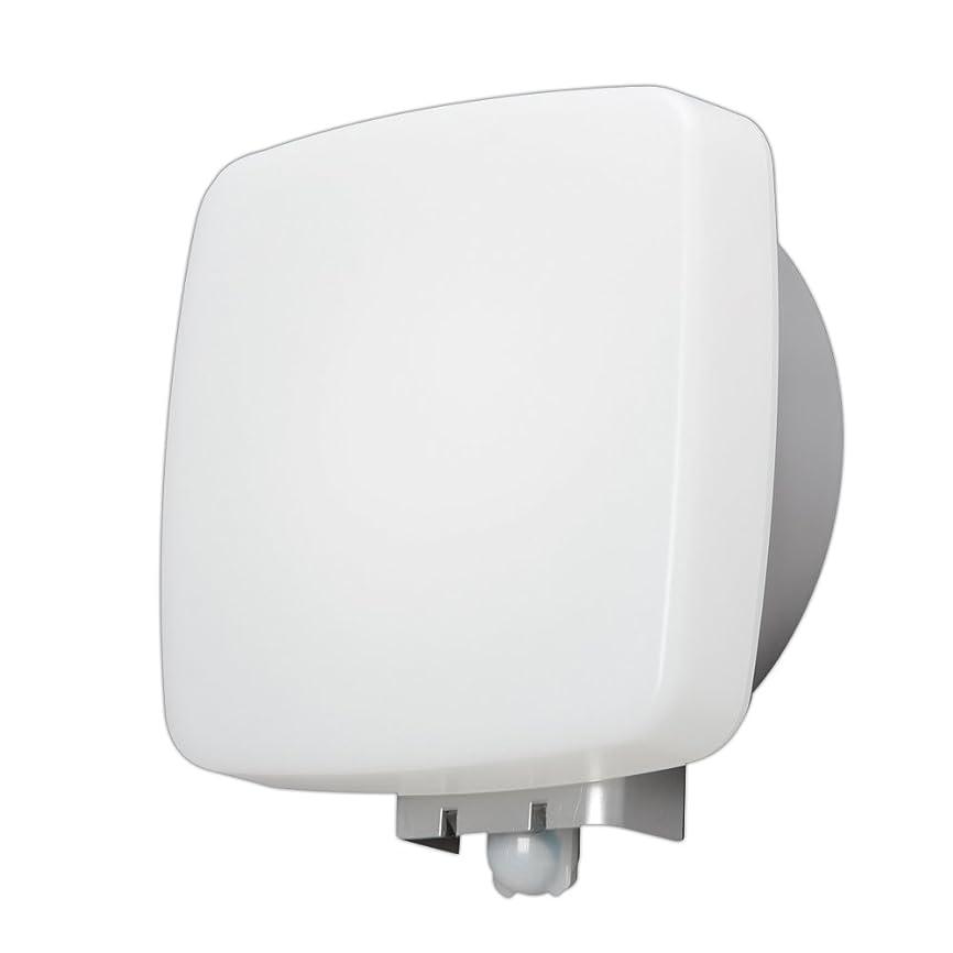 矩形熟読する仕えるアイリスオーヤマ LEDポーチ灯 人感センサー付 角型 電球色 500lm IRBR5L-SQPLS-MSBS