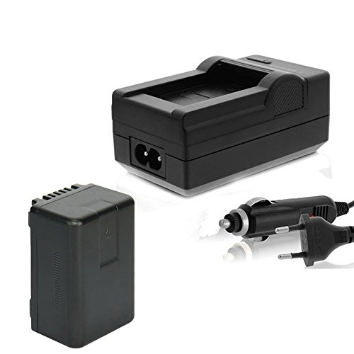 Akku + Ladegerät Kompatibel mit Panasonic HC VXF999 VX878 VX989 V160 V180 V270 V380 V550 V550CT V757 V727 V777 W570 W580 WX979 VW-VBT190, VBT-190 VWVBT190 E K (mit Infochip/Restlaufanzeige) - 1780mAh