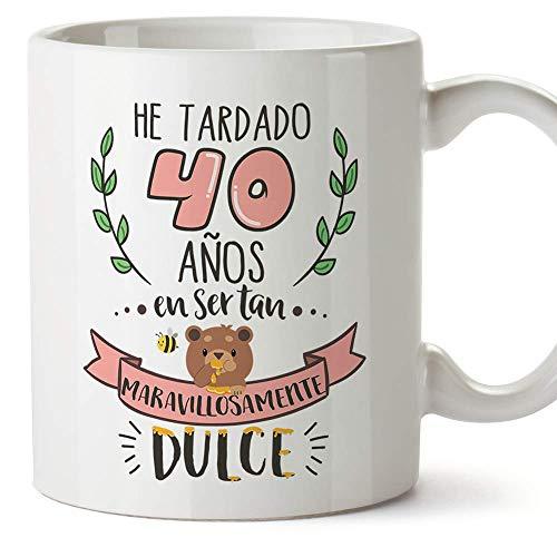 MUGFFINS Taza 40 Cumpleaños -Regalos Originales y Divertidos para Aniversarios y Cumpleañeros