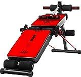 AG Faltbare Fitness-Bank Multifunktions-Sitzbank Neigungsverringerung Bauchmuskeln üben im Fitnessstudio zu Hause für Ganzkörpertraining mit Unterstützung des Taillenrückens