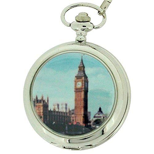 BOXX M5061.04 Big Ben - Reloj de Bolsillo, Correa de Metal Color Plateado