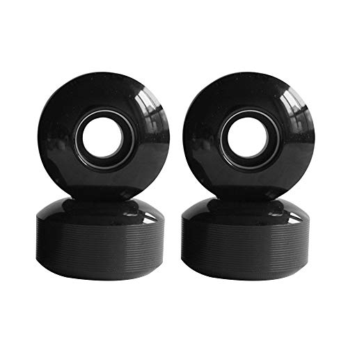 ZENING Skateboard-Räder, 52 x 32 mm, Ersatz-Roller, perfekt für rauen Boden, Schwarz, 4 Stück