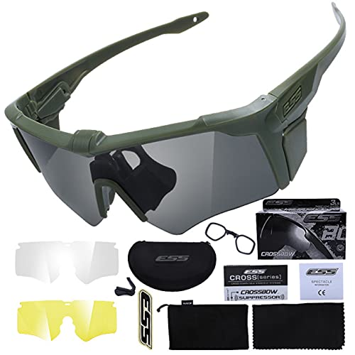 Tramile Los aficionados militares al aire libre deportes gafas cruzadas tácticas, disparar gafas a prueba de balas, gafas de sol tácticas de los hombres, gafas de sol al aire libre, verde militar