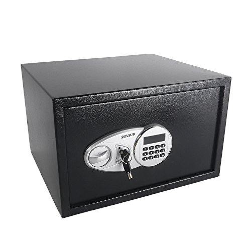 TUFFIOM 1.2 CF Electronic Security Safe Box, Digital Cabinet with Keypad Lock & Solid Steel, Perfect for Home Office Hotel Business Cash Jewelry Wallet Valuable, Battery Included