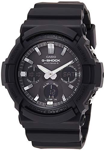 Casio G-SHOCK Orologio 20 BAR, Nero, con Ricezione Segnale Radio e Funzione Solare, Analogico - Digitale, Uomo, GAW-100B-1AER