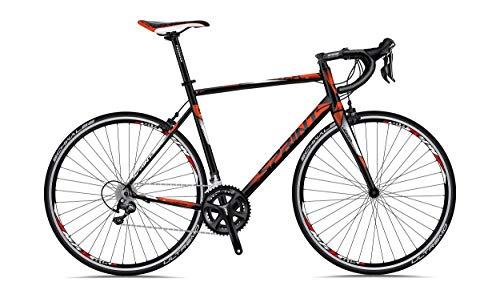 "SPRINT Monza Race 28"" Bicicleta de Carretera Road Bike 530 mm Negro Mate 3X8 Cambios"