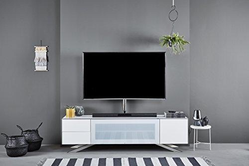 Jahnke Meuble TV SL 5180 AF, Bois, Blanc, 45 x 180 x 49,3 cm