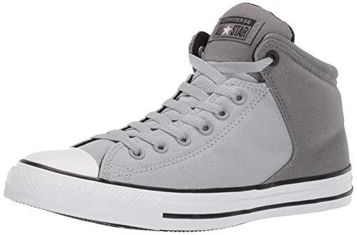 Converse Men#039s Unisex Chuck Taylor All Star Street High Top Sneaker Wolf Grey/Mason/Black 10 M US