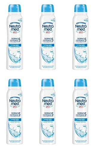Lot de 6 désodorisants pour corps en spray neutre.