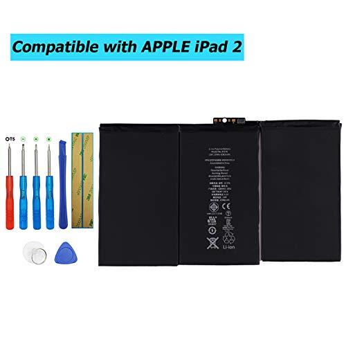 Upplus A1376 vervangende accu compatibel voor iPad 2 2e generatie A1395, A1396, A1397 met Toolkit