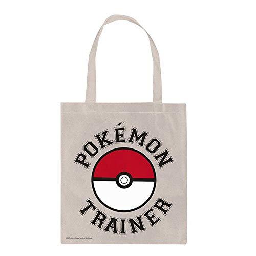 empireposter Shopper Tasche - Pokemon - Trainer - Stofftasche - Größe 30x45 cm