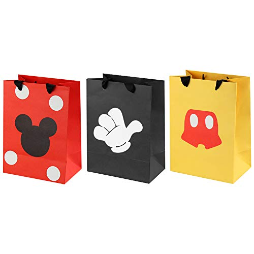 18 Pcs Mouse Favor Bags, Treat Candy Goodie Gift Bags for Baby Birthday Party Supplies Baby Shower Mouse Theme Party Decorations