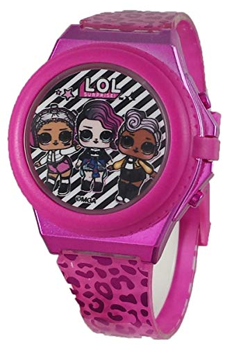 L.O.L. Surprise! Light Up Pink Digital Watch with Pop Up Cover
