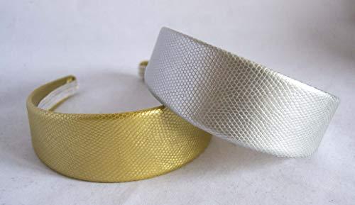 Lot de 2 serre-têtes argentés et dorés de 5 cm. Livraison GRATUITE 72h