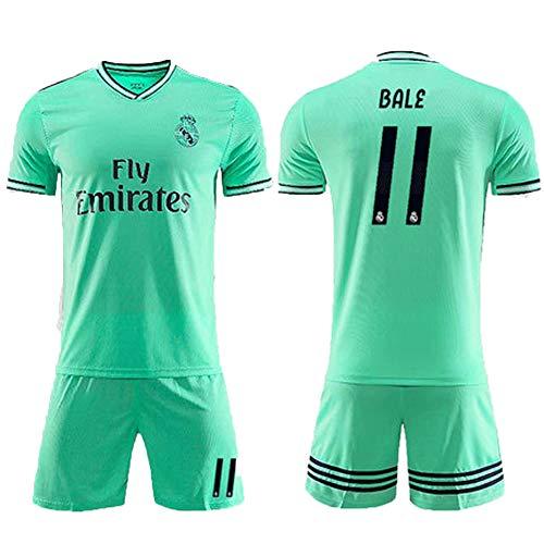 11 # Bale Football Jersey Herren-Sporthemd Outdoor-Sport-Unterhemd Kinder- und Jugendreisen Kurzarm Geeignet für Fußballtraining FeuchtigkeitsaufnahmeFußballtrikots X # XXX Herren-Sport-Shor-green-